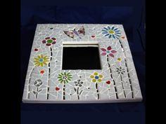Pretty flower mosaic mirror