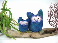Tyto Owls plush pair by Lithe-Fider.deviantart.com on @deviantART