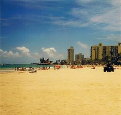 Isla Verde Beach, San Juan, Puerto Rico.  Where Molly won the tan off