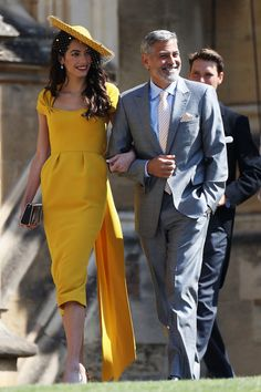 Amal (In Richard Quinn) And George Clooney  - What Celebrity Guests Wore To Meghan Markle And Prince Harry's Wedding - Photos