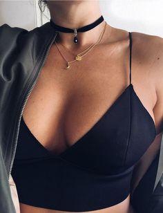 Sexy Deep V Neck Camis Women Black Tank Top Casual Slim Nightclub Tops Vest Cropped Tops, Summer Outfits, Casual Outfits, Cute Outfits, Outfits 2016, Black Women Fashion, Womens Fashion, Ladies Fashion, Look Plus