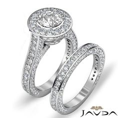 Huge-Halo-Round-Diamond-Engagement-Ring-Bridal-Set-EGL-E-VS1-Platinum-4-45-ct