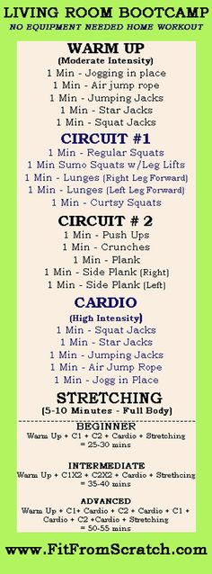 Living Room Boot Camp Workout