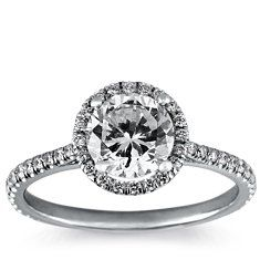 Floating Halo Diamond Engagement Ring in 14k White Gold (1/4 ct. tw.)  Ahhhh :) swooning