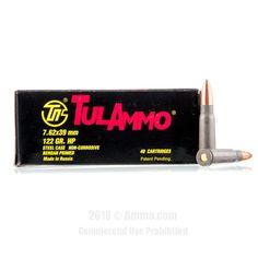 TulAmmo 7.62x39 Ammo - 1000 Rounds of 122 Grain HP Ammunition #762x39 #762x39Ammo #Tula #TulAmmo #Tula762x39 #HPAmmo