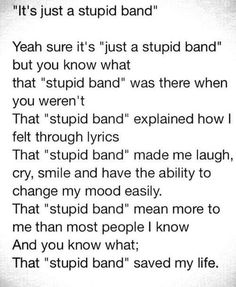 This is the most true pin I have ever come across and I just know that the vamps have saved me life. Thanks Brad, James, Con and Tris xx