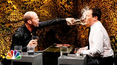 Water War with Jason Statham and Jimmy Fallon ~ OMG if your having a bad day all you need to do is watch this!!! :)