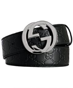 Gucci -guccissima leather belt with interlocking G buckle