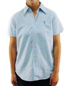 Polo Ralph Lauren Women's AQUA Blue Button Up Shirt 1062224WANO-AQUA-Medium Ralph Lauren. $73.97
