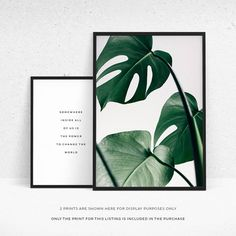 Get your tropical theme on point with this printable Monstera leaf Nordic wall print. There's really not a lot to say about this monstera wall decor as it speaks for itself! Whether you're looking for gallery wall ideas or a gallery wall set, hand pick a couple of complementary prints from our shop (such as this one http://etsy.me/2tt6Am7 and this one http://etsy.me/2u3VQyZ) to get that perfect Pinterest-worthy home decor look.
