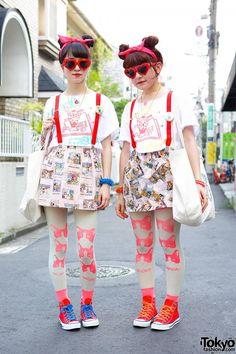 bda4a3aa076a Tokyo Fashion News. Hennyo Girls w  Matching Heart Sunglasses