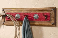 Red Ranch Coat Rack-Make this...