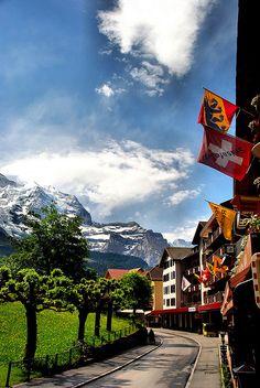 Wengen Street View, Switzerland