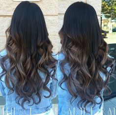 Silver grey ombre with black natural dark hair
