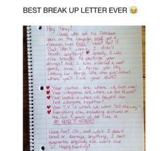 Funniest Kid Break Up Letters Texts Pinterest Funny Kids And