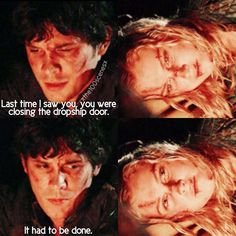 "#The100 2x05 ""Human Trials"" - Bellamy and Clarke"