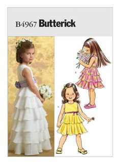 Butterick Vogue Sewing Patterns Girls  Toddlers Special Occasion Formal  Dresses 194ad76c6