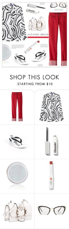 """Colored denim"" by arohii ❤ liked on Polyvore featuring prAna, Emilio Pucci, Kate Spade, W3LL People, Miu Miu and coloredjeans"