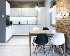 KAWALERKA - Mała otwarta kuchnia w kształcie litery l w aneksie, styl skandynawski - zdjęcie od Partner Design