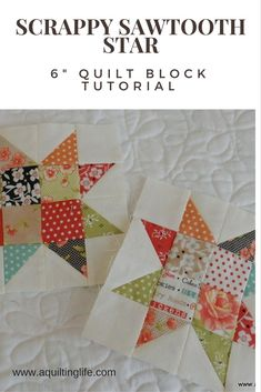 Scrappy Sawtooth Star Quilt Block | A Quilting Life - a quilt blog