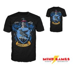 The Harry Potter Ravenclaw Crest T-Shirt Large bears the sigil of the  Hogwarts House of ... 28ae940bb161
