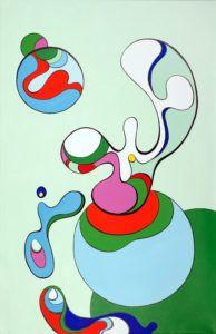 Original NN1109 43cm-43cm acrylic and enamal paint on canvas € 2400