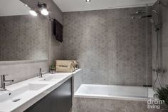 Minimalistyczna łazienka od Dröm Living