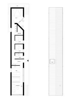 Jordens — Jacob likes Narrow House Plans, Tree House Plans, Small Floor Plans, Modern House Plans, Modern House Design, House Floor Plans, Architecture Visualization, Architecture Plan, Little House Plans