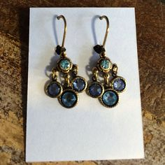 Just the right amount of sparkle. Crystal blue earrings by artist Barbara Hoff. #topshelf #barbarahoff #blueskieschatt #topshelfjewelry #earrings #chatt #chattanooga #instyle