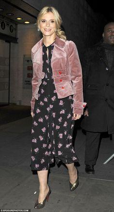 Stylish outing: Emilia Fox was looking ladylike as she left BBC Studios on Monday night af. Emilia Fox, Smart Outfit, Style Challenge, Dress Codes, Dress Making, Retro Fashion, Vintage Inspired, Celebrity Style, Winter Fashion