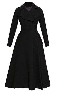 Long black A-Line coat #style #black #goth #fashion
