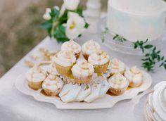 Big Love Wedding Design, Intimate Vow Renewal, caramel cupcakes, geometric cookies