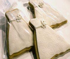 Cookies  Favors  Wedding Dress. One dozen. by CookieFashionista