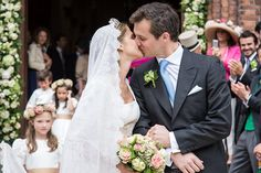 Princess Alix De Ligne with her husband Prince Guillaume as newlyweds on last weekend, Saturday June 18, 2016