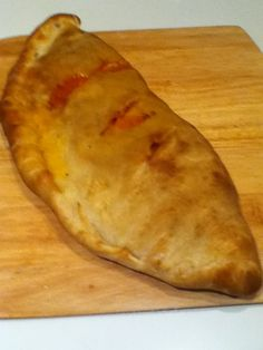 Done in a Big Green Egg! I want to make calzones this way too..