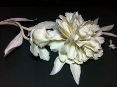 """Peony"", Russian porcelain, 2013 Artist Lada Peskova"