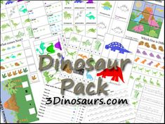 Dinosaur preschool printable