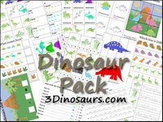 Dino preschool printable pack
