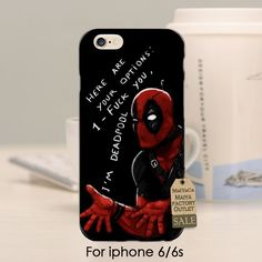 soft black tpu silicone Cartoon Deadpool cool man 2016 New Luxury fashion cell phone case For iPhone se 5s 6s 7 plus 6 6s ccase