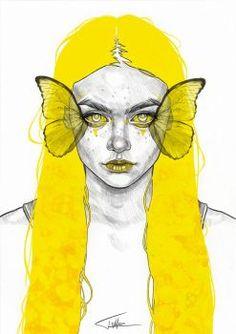 Yellow Butterfly by Tomasz-Mro