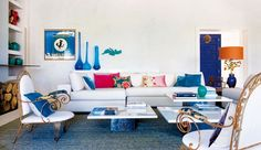 How would you love to vacation in this incredible home in Sotogrande, Spain, designed by interior designer Marta De La Rica? The consistent blue and cool accents tie each room together so exquisitely.