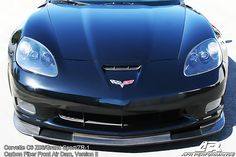 C6 Corvette Z06 Carbon Fiber VII Front Splitter APR APR Aggressive Version II Carbon Fiber Front Air Dam for the C6 Corvette Z06, Grand Sport, and ZR1  If you're running your Corvette in track races where wind splitters aren't permitted, or just want improved handling and style on the road, a high-quality Corvette carbon fiber splitter is perfect for you.