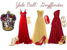 Gryffindor ball dresses