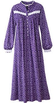 Womens Eileen West Forget Me Not Flannel Nightgown