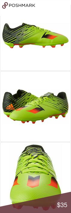 NWT Messi 15.3 Cleats Brand new Messi 15.3 Cleats in green/black. Cleats have tag but no box. Kids size 5. Adidas Shoes