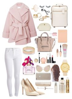 """--"" by sarahsworlddx ❤ liked on Polyvore featuring Carven, Pieces, Gianvito Rossi, Rebecca Minkoff, Prada, MANGO, Witchery, Maybelline, Marc Jacobs and Forever 21"