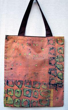 Fabric (Breakdown Printing) by Brunhilde Scheidmeir, Bag by Uli Spiro