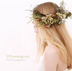 Floral headdress by Rococo Flowers