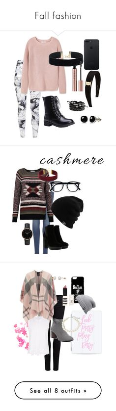 """""""Fall fashion"""" by rozlynjanine ❤ liked on Polyvore featuring Varley, MANGO, Belk & Co., Salvatore Ferragamo, 7 For All Mankind, Autumn Cashmere, Hogan, Topshop, Paige Denim and Casetify"""