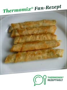 Cigar Börek - parsley-sheep's cheese rolls from Mixwerk-Hamburg. A Thermomix ® recipe from the Appetizers / Salads class at www.de, the Thermomix ® Neighborhood. Appetizer Salads, Cheese Appetizers, Appetizer Recipes, Snack Recipes, Dessert Recipes, Cooking Recipes, Ham Recipes, Party Finger Foods, Party Snacks